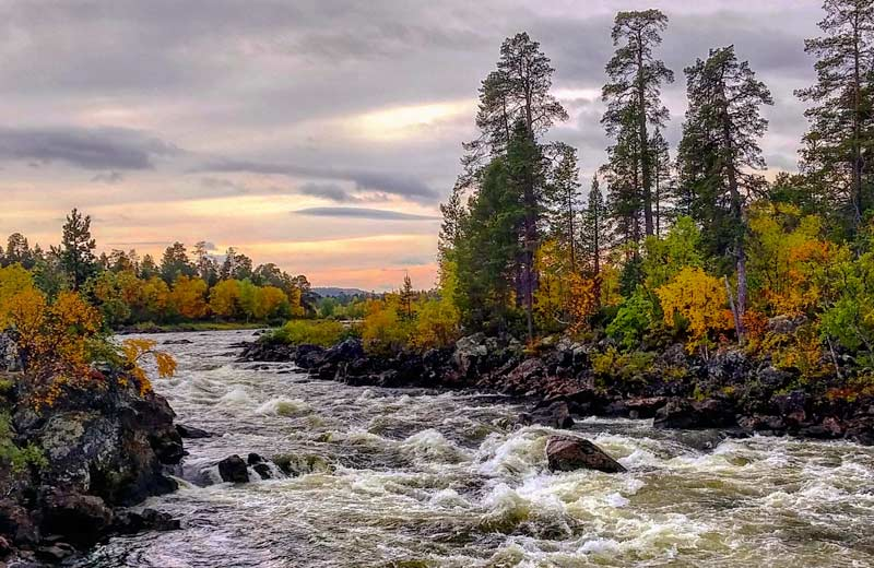 The Splashes Of River Juutua In Inari Visit Inari