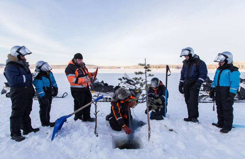 Winter Fishing Trip with Snowmobile - Visit Inari, Finland, Lapland